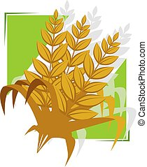 Grain and Cereal Products - Illustration of a wheat in a ...