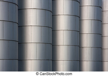 grain bins - industrial background