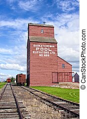 Grain elevators are storage facilities for wheat and other agricultural grains.