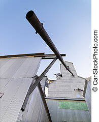 Low angle of grain elevator.