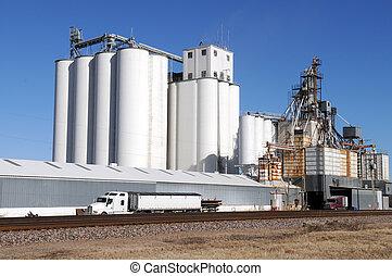 Grain facility - Grain processing facility, Afton, Oklahoma