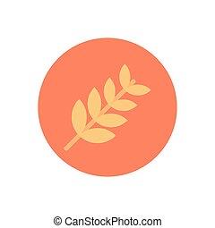 grain  flat color icon