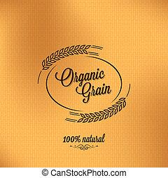grain, fond, organique, conception, vendange