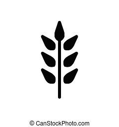 grain  glyph flat icon