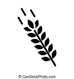 grain glyph flat vector icon