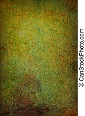 Grain green / brown paint wall background or vintage texture