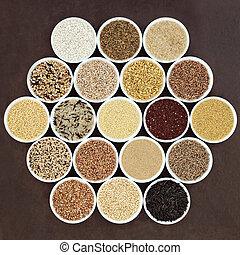grain, nourriture, échantillonneur