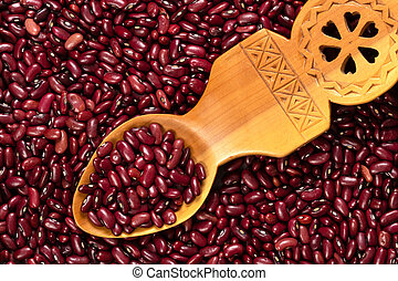 Grain of Red Bean Seeds Background and Texture
