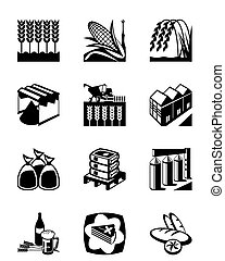 grain, production, céréales