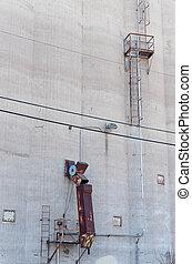 Grain Silo Chute and Ladder