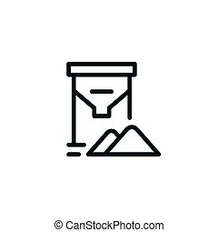 Grain tank line icon isolated on white. Vector illustration