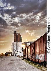 Grain Terminal at Sunrise