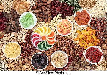 graine, écrou, collection, fruits secs