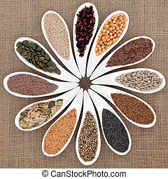 graine, nourriture, échantillonneur