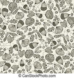 graines, seamless, pattern.