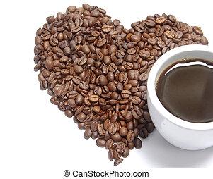 grains café, grande tasse