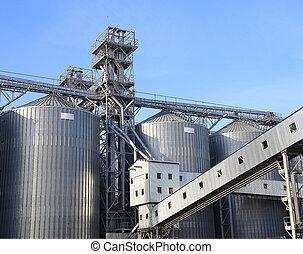 grains., granaries, graan, opslaan, anderen, tarwe