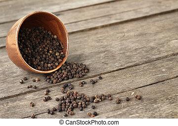 grains poivre noirs