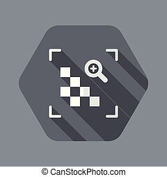 Grainy image - minimal flat icon - Flat and isolated vector...