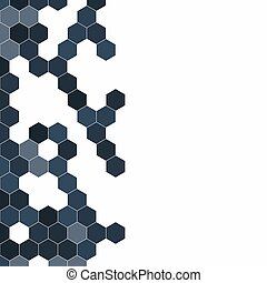 Grainy pattern composed of hexagons colorful. Honeycomb background. Isometric geometry. Aspect Ratio 1:1