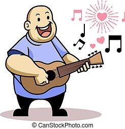 graisse, gosse, chanter, aimez chanson