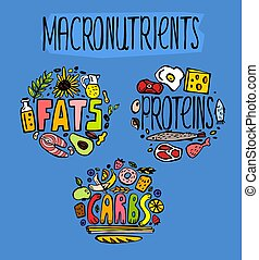graisses, protéines, hydrates carbone