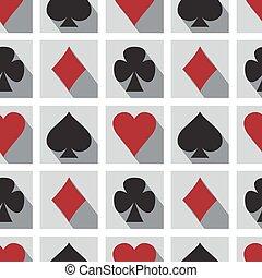 grając kartę, seamless, próbka