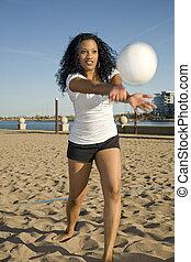 grając volleyball