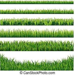 grama verde, fronteiras, grande, jogo