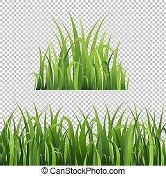 grama verde, jogo, isolado, transparente, fundo
