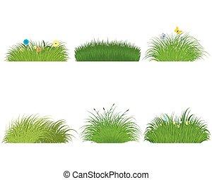 grama verde, jogo