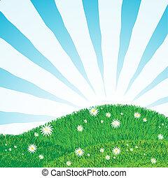 gramado, raios, sol