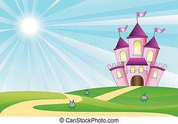 gramado, verde, fairy-fairy-tale, palácio