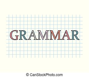 grammar concept- vector illustration