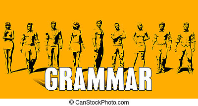 Grammar Concept With Business Professionals Standing in a ...