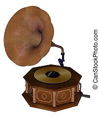 Gramophone - 3D render