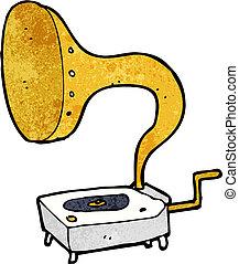 gramophone, caricatura