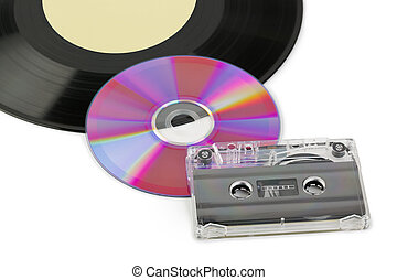 Gramophone disk, cd and cassette