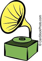 Gramophone icon cartoon