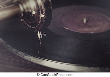 gramophone old vintage classic music needle