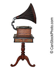 Gramophone - Photo of a retro gramophone on isolated ...