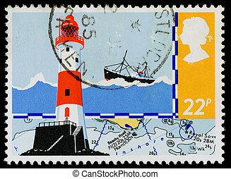 gran bretaña, seguridad, en el mar, sello