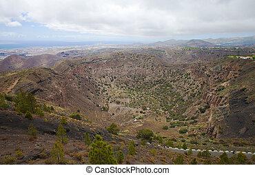 Gran Canaria, aerial view from Pico de Bandama