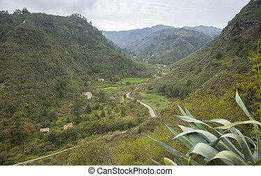 Gran Canaria, view into Integral Nature Reserve Barranco Oscuro, December
