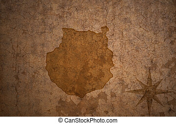 gran canaria map on vintage crack paper background