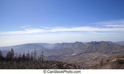 Gran Canaria October 2017 - Gran Canaria after wild fire,...