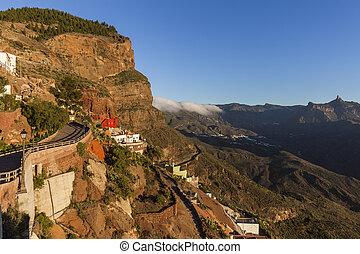 Gran Canaria panorama seen from Artenara