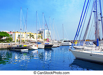 Gran canaria Puerto de Mogan marina boats