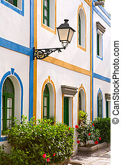 Gran canaria Puerto de Mogan white houses colonial in canary...