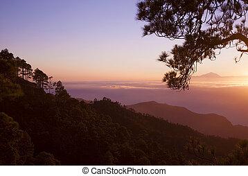 sunset over Teide